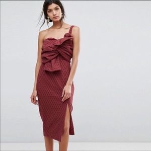 C/MEO COLLECTIVE Scarlet Give You Up Dress